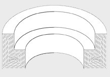 Cross section of continuous grain flow of custom forged contoured ring